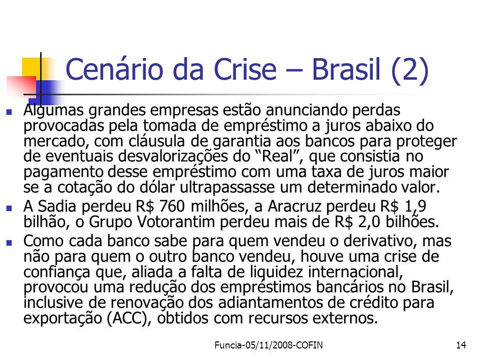 Cenário da Crise – Brasil (2)