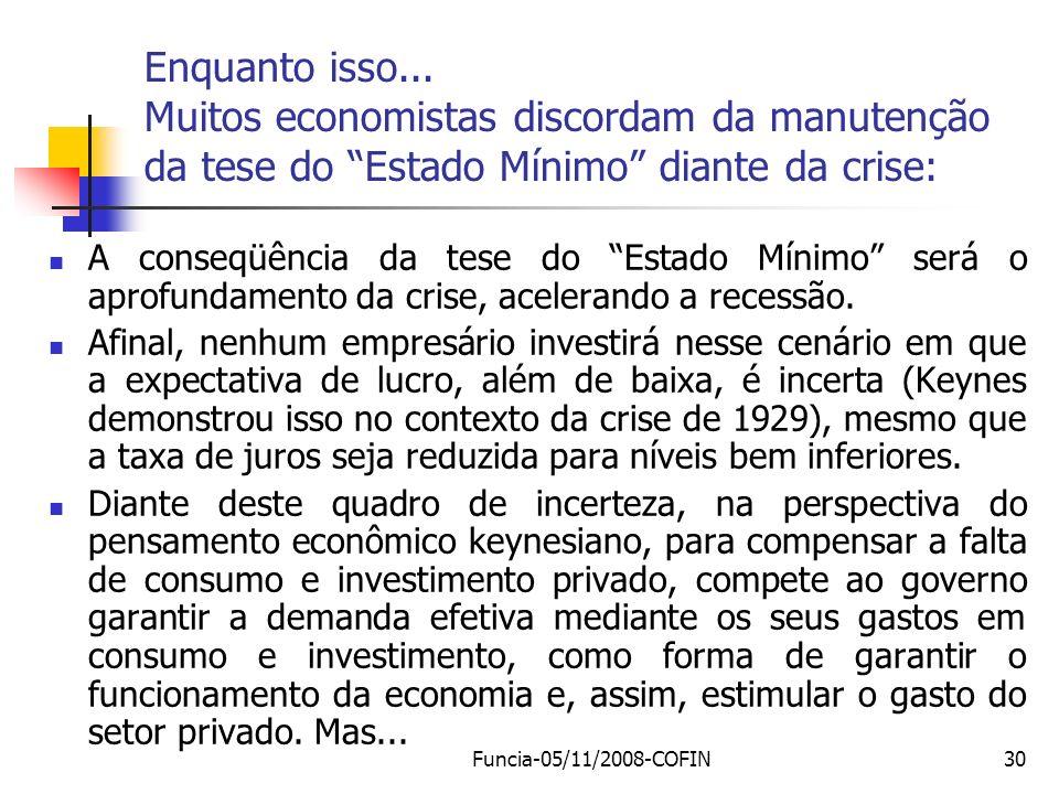 Enquanto isso... Muitos economistas discordam da manutenção da tese do Estado Mínimo diante da crise: