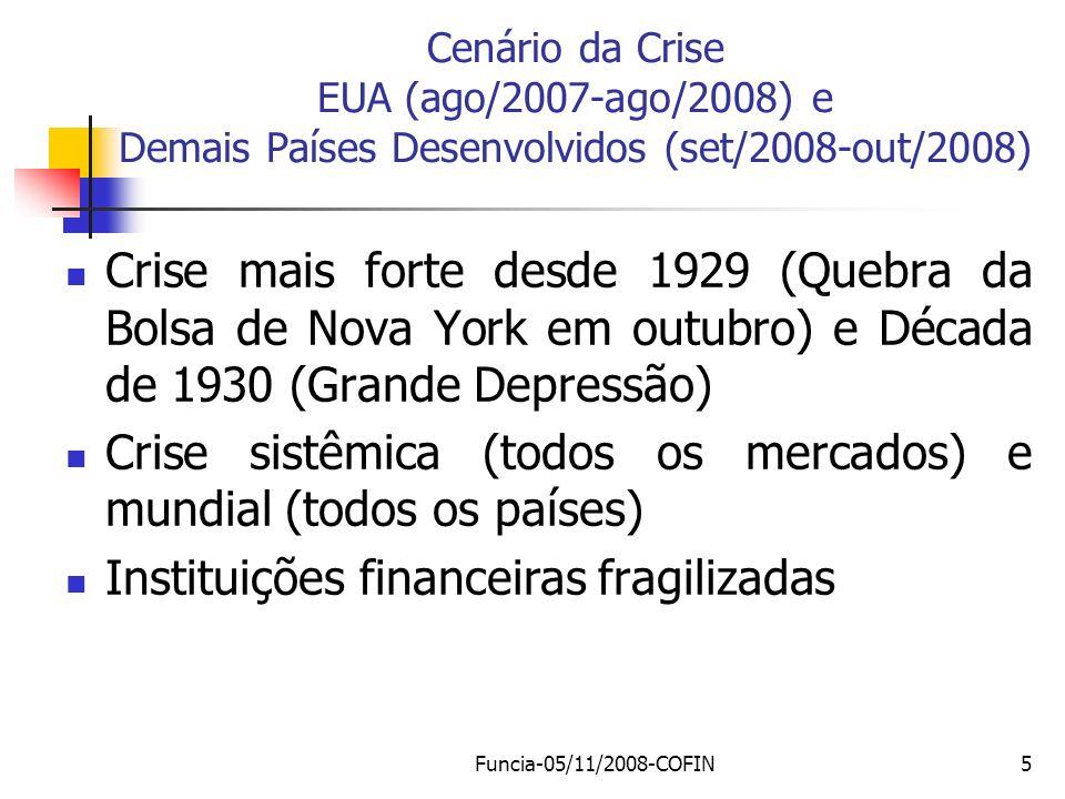 Crise sistêmica (todos os mercados) e mundial (todos os países)
