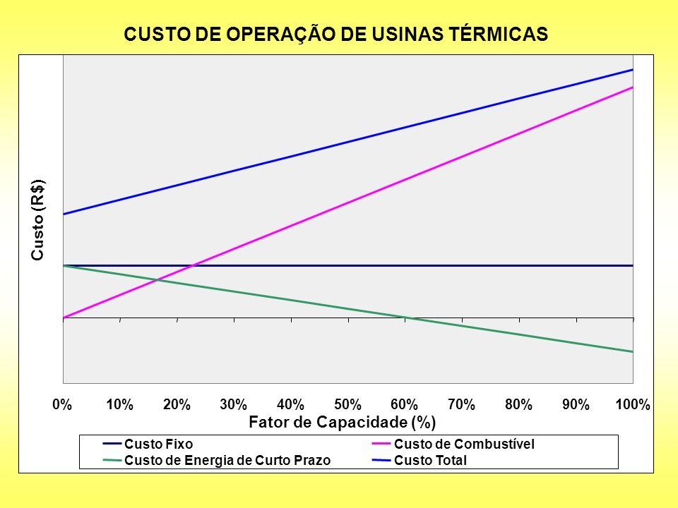 CUSTO DE OPERAÇÃO DE USINAS TÉRMICAS