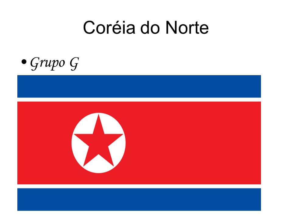 Coréia do Norte Grupo G