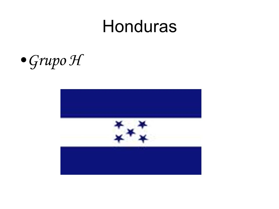 Honduras Grupo H