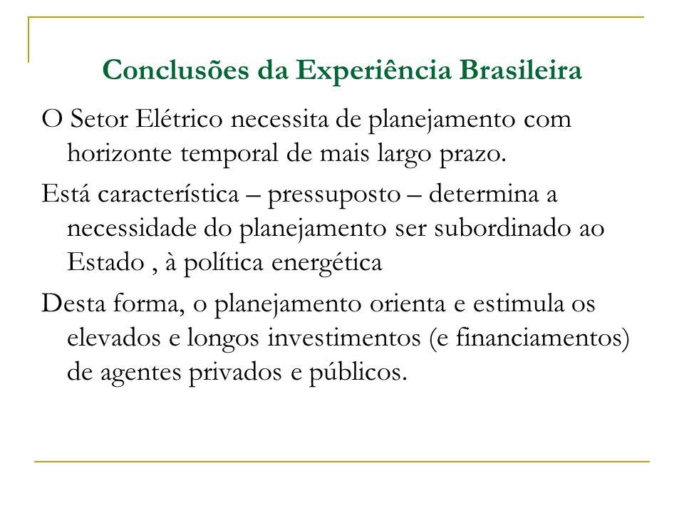 Conclusões da Experiência Brasileira