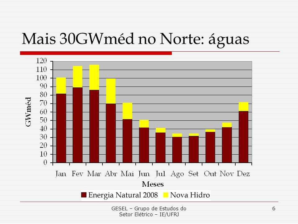 Mais 30GWméd no Norte: águas