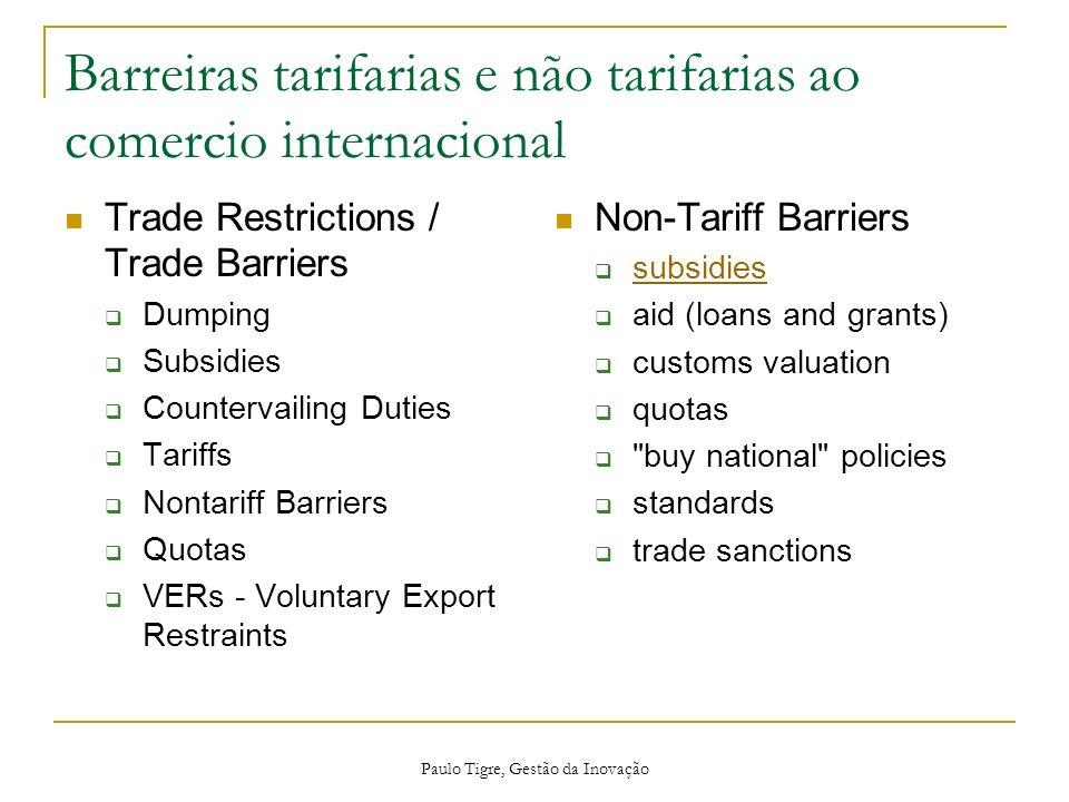 Barreiras tarifarias e não tarifarias ao comercio internacional