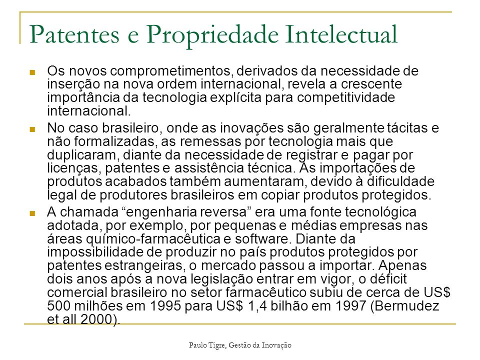Patentes e Propriedade Intelectual