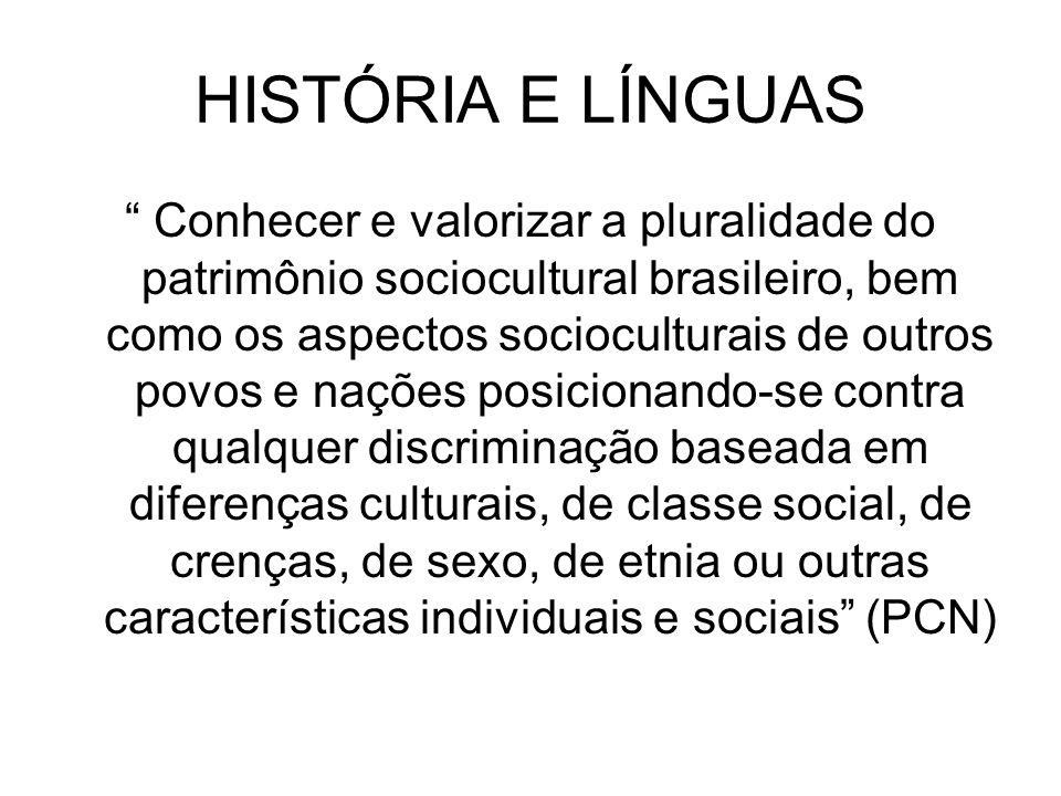 HISTÓRIA E LÍNGUAS