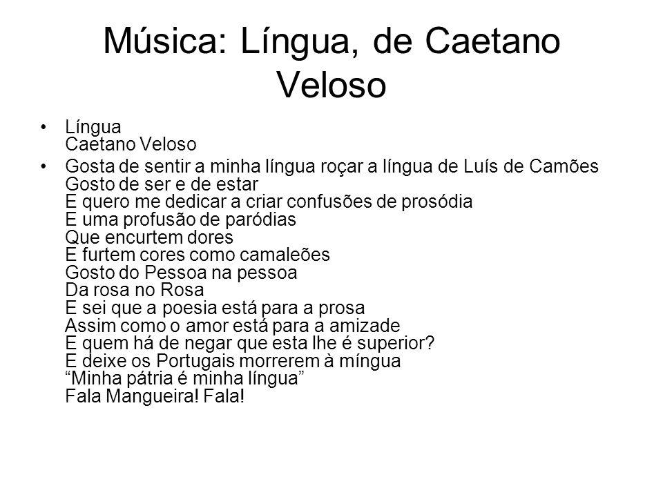 Música: Língua, de Caetano Veloso
