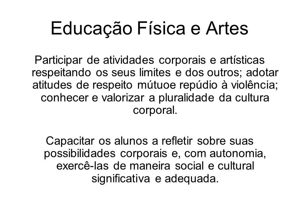 Educação Física e Artes