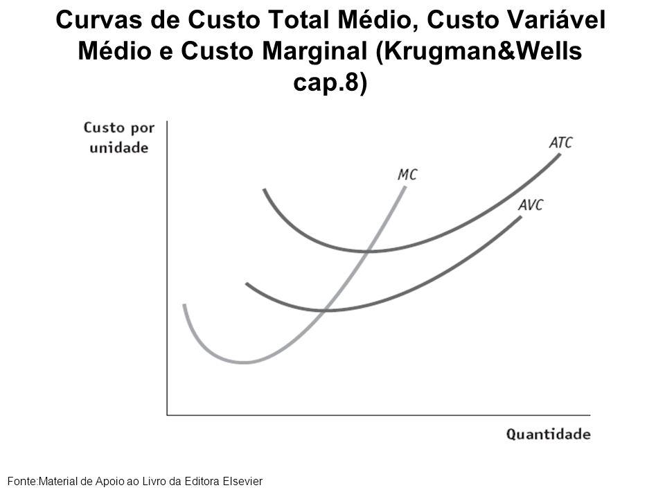 Curvas de Custo Total Médio, Custo Variável Médio e Custo Marginal (Krugman&Wells cap.8)