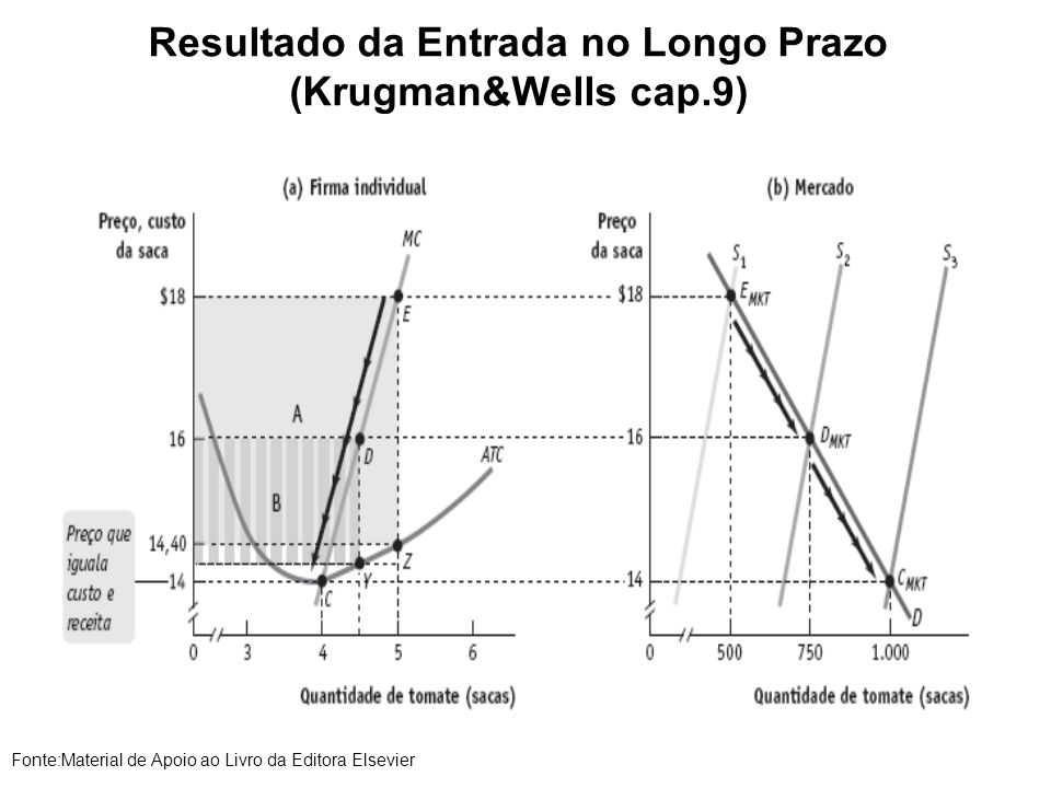 Resultado da Entrada no Longo Prazo (Krugman&Wells cap.9)