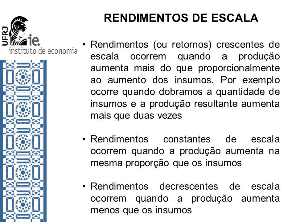 RENDIMENTOS DE ESCALA