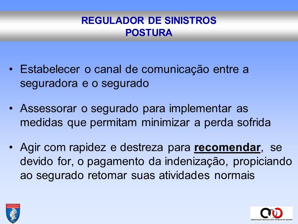 REGULADOR DE SINISTROS POSTURA