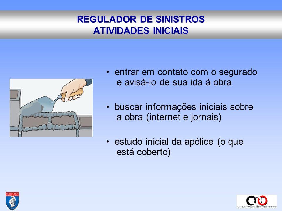 REGULADOR DE SINISTROS ATIVIDADES INICIAIS