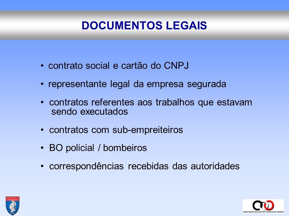DOCUMENTOS LEGAIS • contrato social e cartão do CNPJ