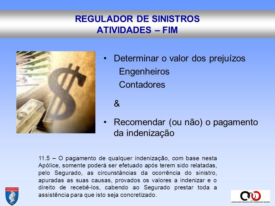 REGULADOR DE SINISTROS ATIVIDADES – FIM