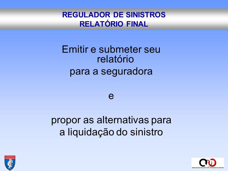 REGULADOR DE SINISTROS RELATÓRIO FINAL