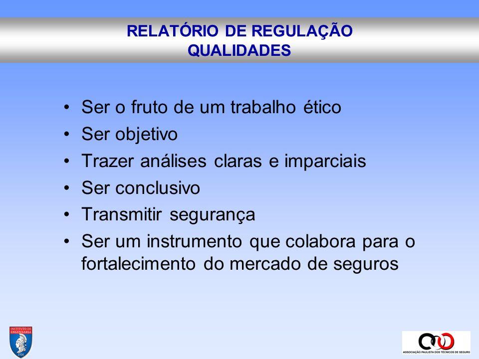 RELATÓRIO DE REGULAÇÃO QUALIDADES