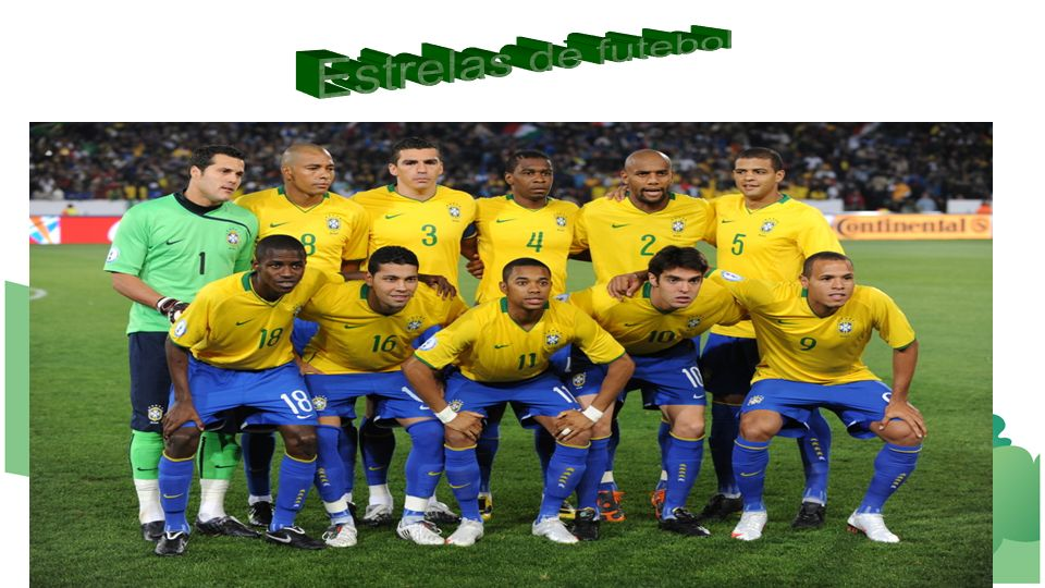 Estrelas de futebol Você sabe os nomes deles