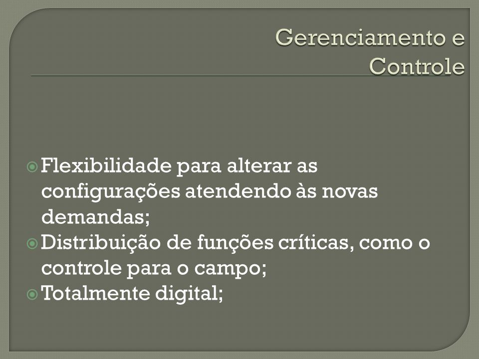 Gerenciamento e Controle