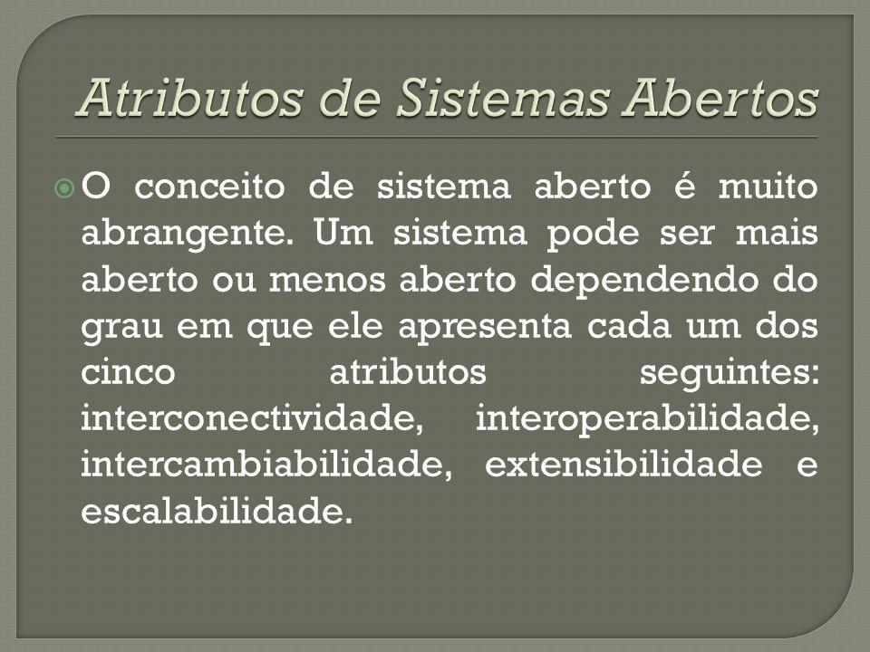 Atributos de Sistemas Abertos