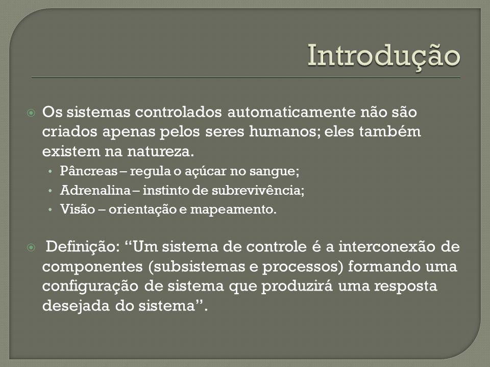 Introdução Os sistemas controlados automaticamente não são criados apenas pelos seres humanos; eles também existem na natureza.