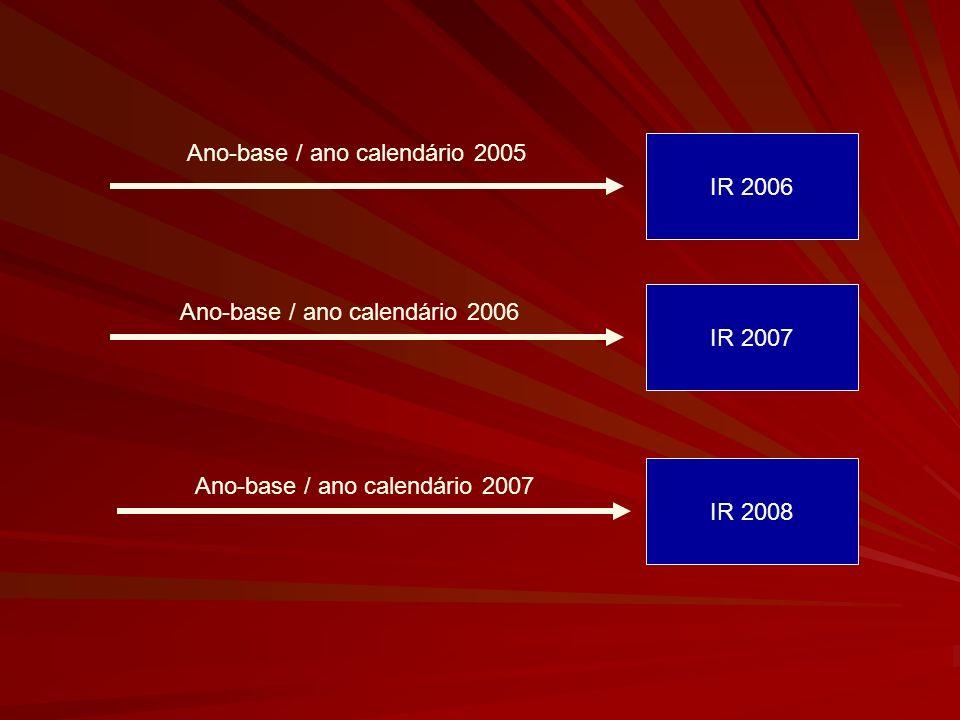 Ano-base / ano calendário 2005