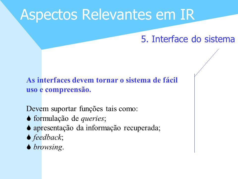 Aspectos Relevantes em IR