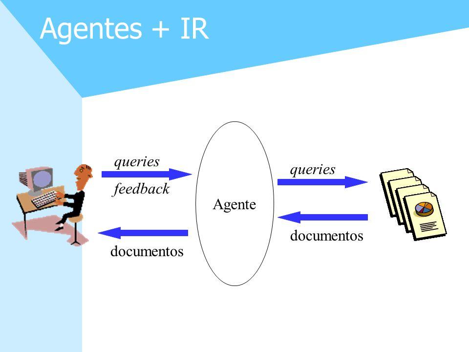Agentes + IR Agente queries queries feedback documentos documentos