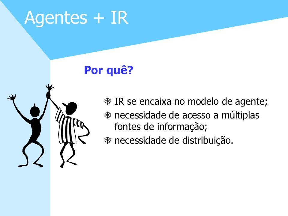 Agentes + IR Por quê IR se encaixa no modelo de agente;