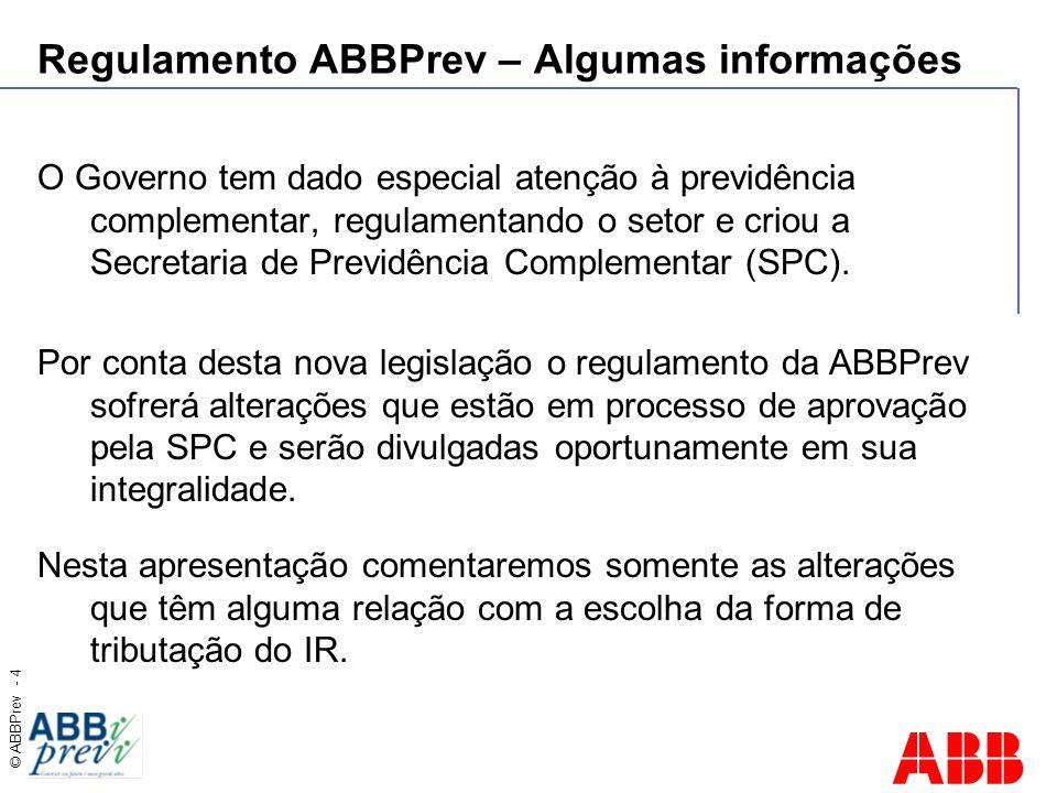Regulamento ABBPrev – Algumas informações