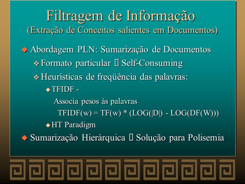 Filtragem de Informação (Extração de Conceitos salientes em Documentos)