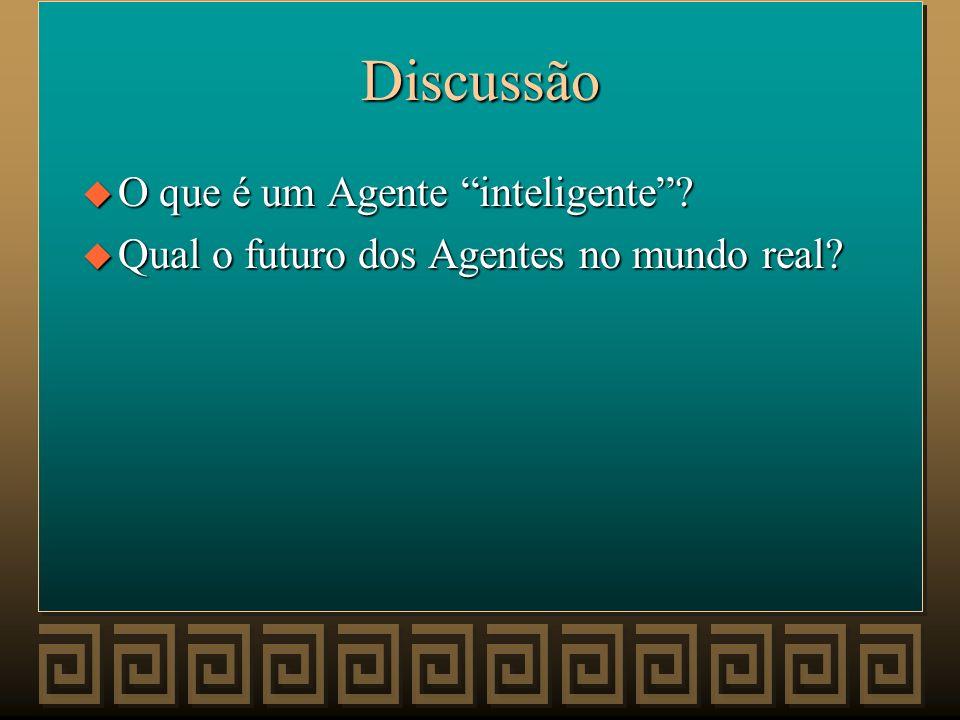 Discussão O que é um Agente inteligente