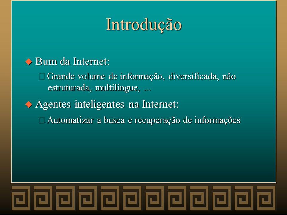 Introdução Bum da Internet: Agentes inteligentes na Internet:
