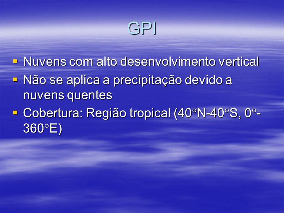 GPI Nuvens com alto desenvolvimento vertical