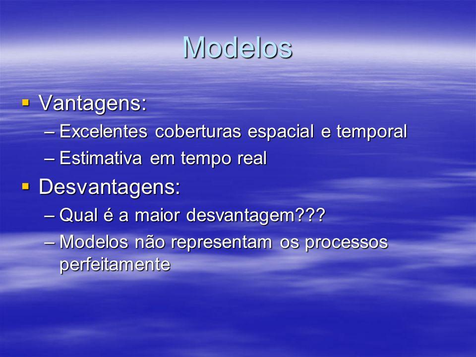 Modelos Vantagens: Desvantagens: