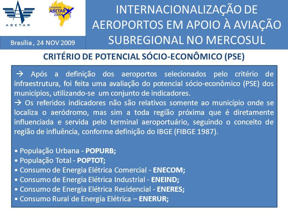 CRITÉRIO DE POTENCIAL SÓCIO-ECONÔMICO (PSE)