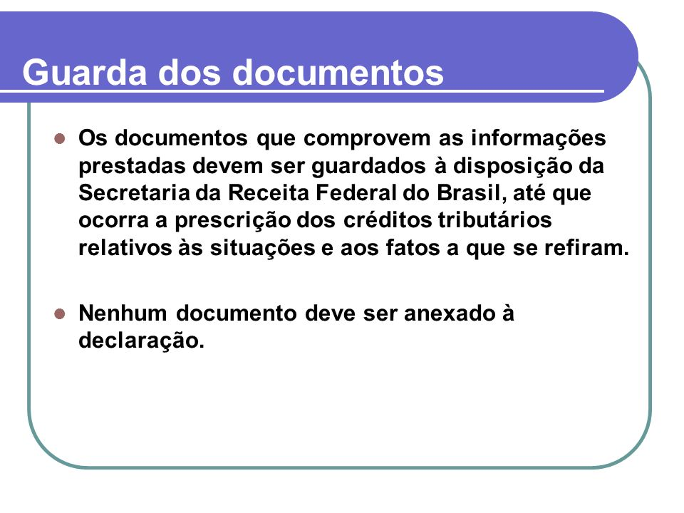 Guarda dos documentos