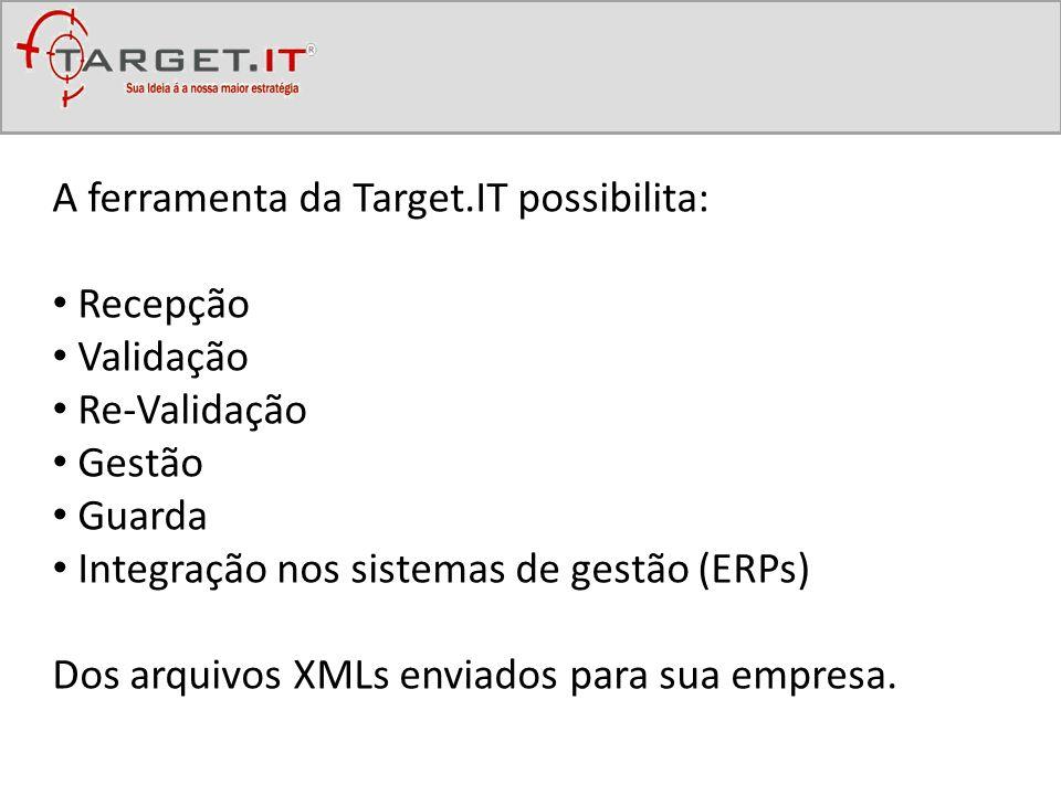 A ferramenta da Target.IT possibilita: