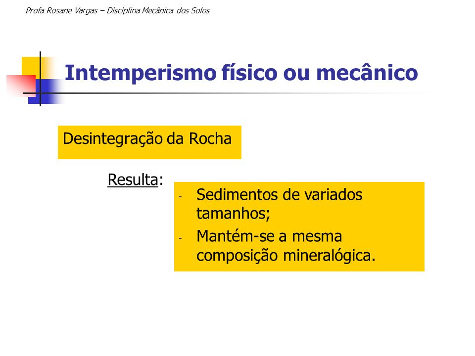 Intemperismo físico ou mecânico