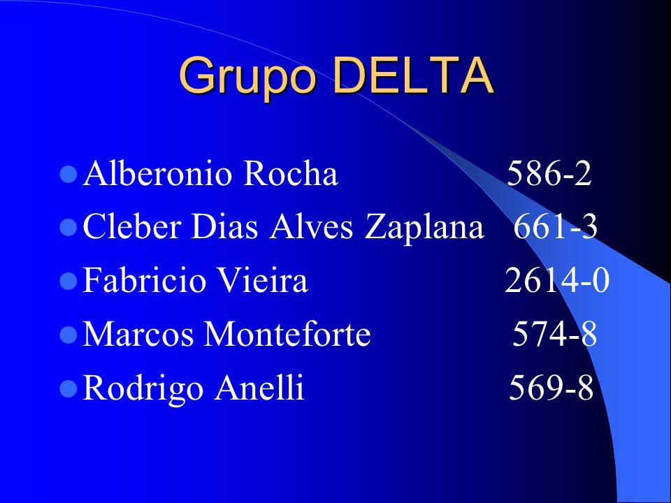Grupo DELTA Alberonio Rocha 586-2 Cleber Dias Alves Zaplana 661-3