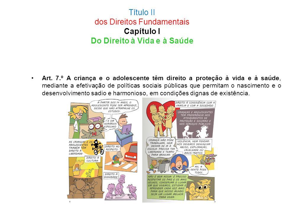 Título II dos Direitos Fundamentais Capítulo I Do Direito à Vida e à Saúde