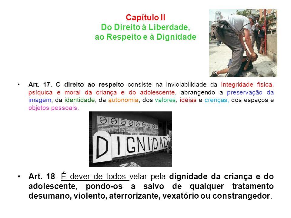 Capítulo II Do Direito à Liberdade, ao Respeito e à Dignidade