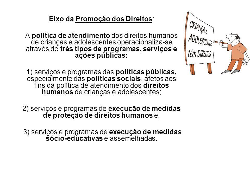 Eixo da Promoção dos Direitos: