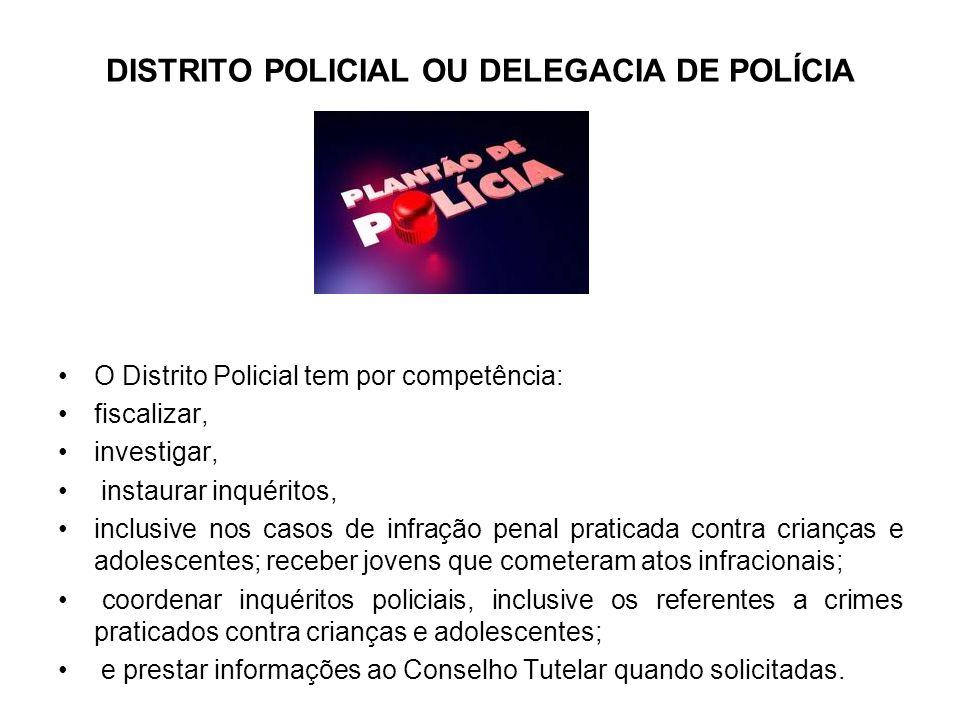 DISTRITO POLICIAL OU DELEGACIA DE POLÍCIA