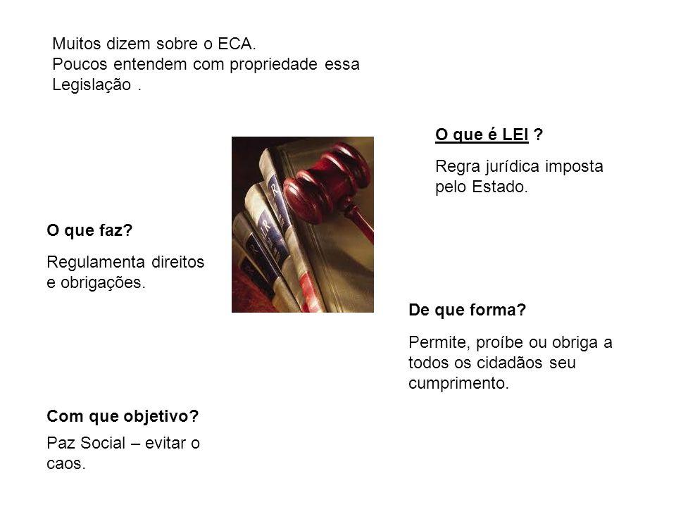 Muitos dizem sobre o ECA.