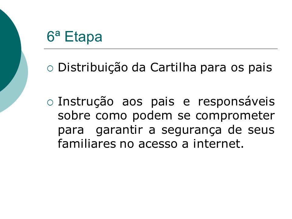 6ª Etapa Distribuição da Cartilha para os pais