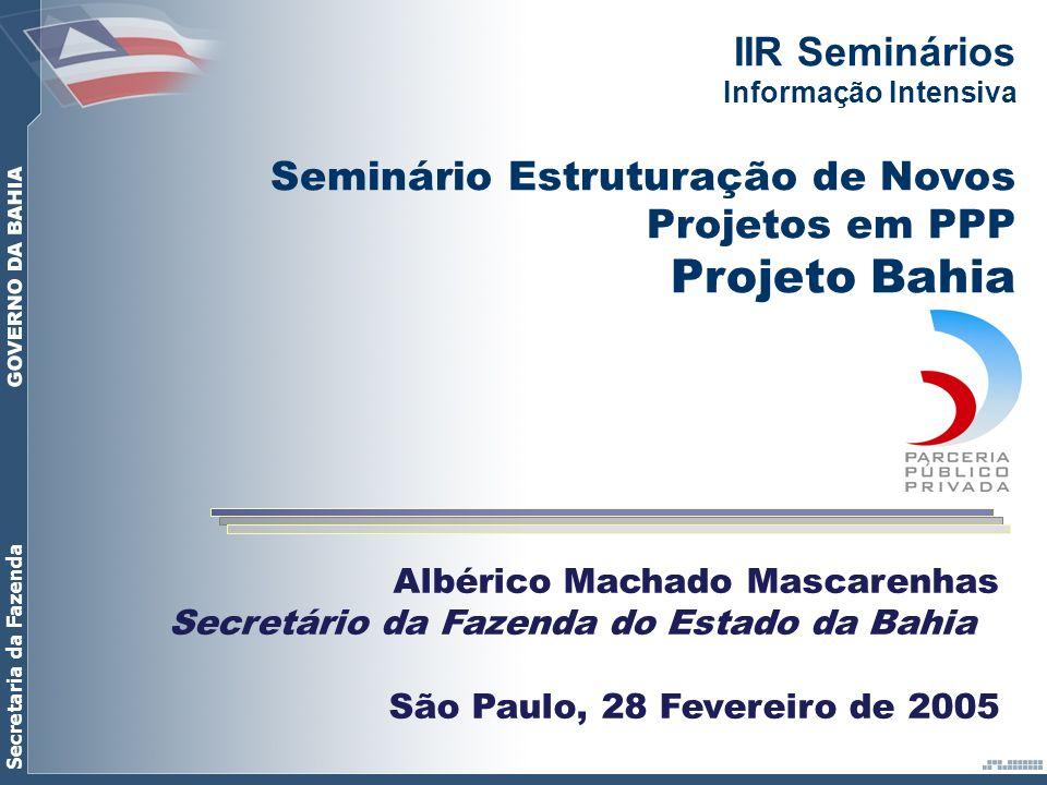 Projeto Bahia IIR Seminários