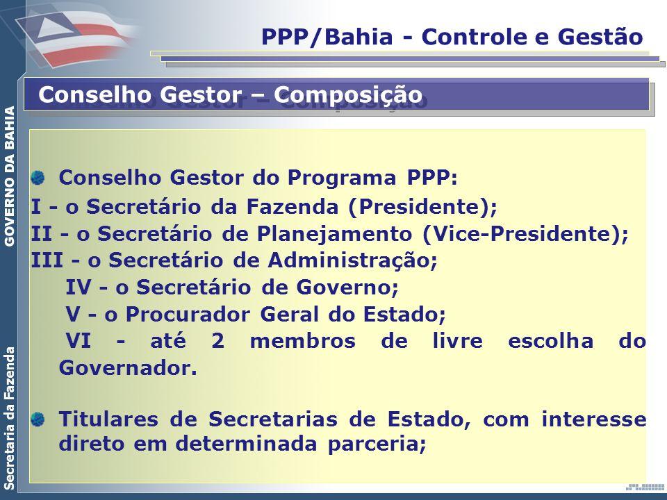 PPP/Bahia - Controle e Gestão