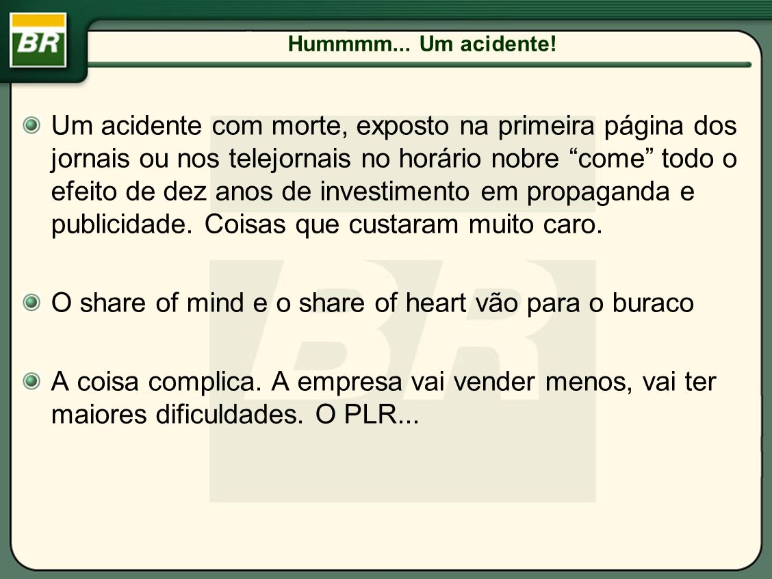O share of mind e o share of heart vão para o buraco